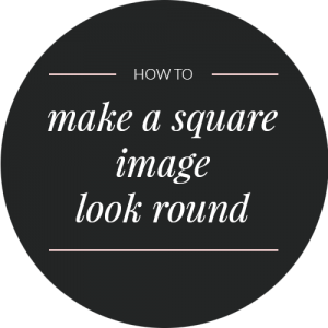 How to make a square image round