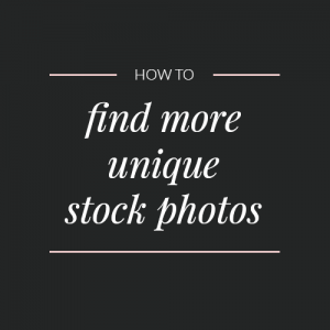 Where to find more unique stock photos