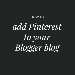 How to add Pinterest to your Blogger sidebar