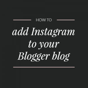 How to add an Instagram gadget to Blogger