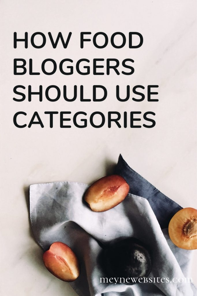 How food bloggers should use categories